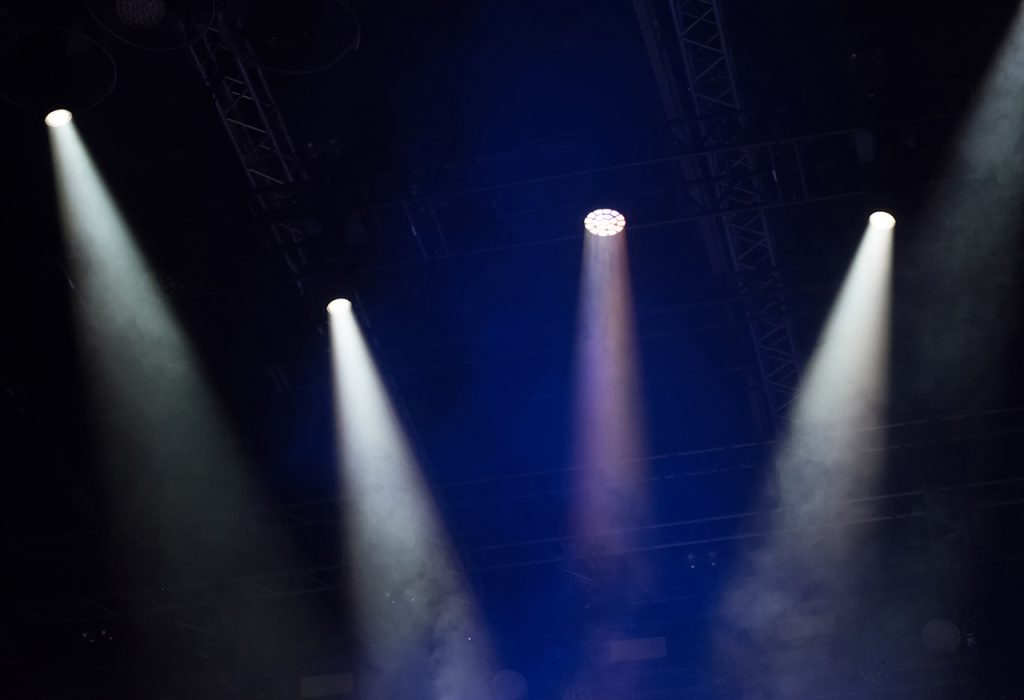 Flashes of light in your music studio